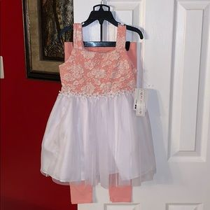 Girl's 2 piece Dress and Pants Set